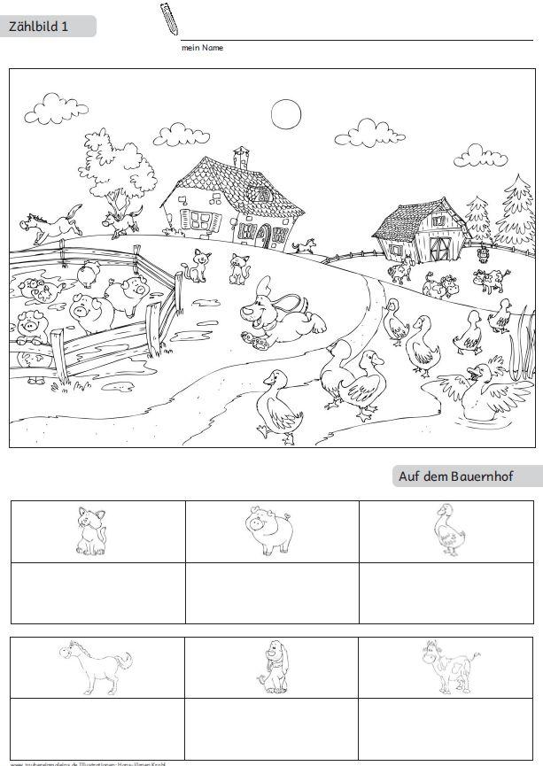 10 Zählbilder als Kopiervorlagen/Arbeitsblätter – Zaubereinmaleins Shop