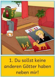 Bildkarten Und Ausmalbilder Zu Den 10 Geboten Zaubereinmaleins Shop