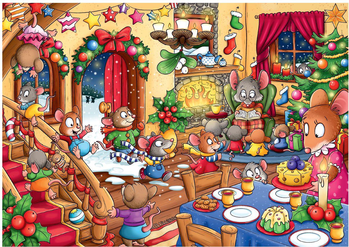 Weihnachts Wimmelbild